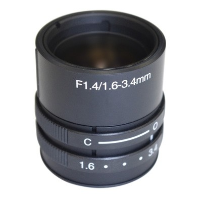 K3M1634 Lens CS, 1.6 - 3.4mm 1/3 FishEye