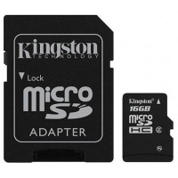 Kingston micro SD kaart 16GB met adapter